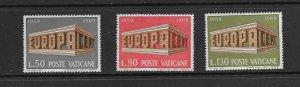 VATICAN - EUROPA 1969 - SCOTT 470 TO 472 - MNH