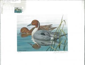ALABAMA #9 1987 DUCK STAMP PRINT PINTAILS by Robert Knutson Reg $155