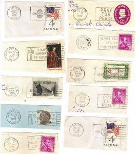 USA slogan postmarks 1960-68 mostly Ohio