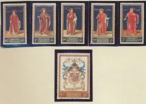 Belgium Stamps Scott #B647 To B652, Mint Never Hinged - Free U.S. Shipping, F...