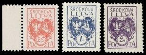 CENTRAL LITHUANIA / MITTELLITAUEN - 1920 Mi.1A/3A Mint** - ref.881a