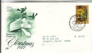 1977, United Nations: Christmas, Artcraft, FDC (E8666)