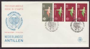 Netherlands Antilles 401a Booklet Pane U/A FDC