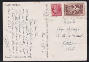 France # 587, 6th Scouting Jamboree on a nice colorful Post Card