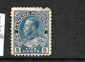 CANADA 1911-25  5c  KGV  MNG  Sc 111