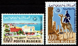 Algeria #372-73  MNH - Int'l Tourist Year Camel (1967)