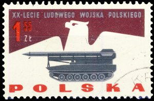 POLAND / POLEN - 1963 Mi.1430 1.55Zl 20yrs People's Army - VF Used