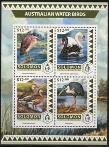 SOLOMON ISLANDS  2017 AUSTRALIAN WATER BIRDS SHEET MINT NH