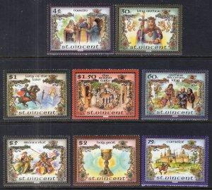 St Vincent 879-879G King Arthur MNH VF