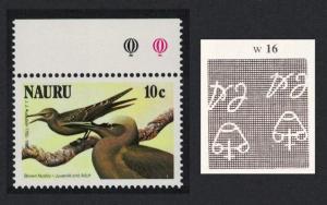 Nauru Birds 10c Top Margin Inverted Watermark SG#328w