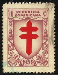 Dominican Republic Postal Tax 1959 Scott# RA28 Used