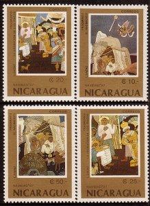Nicaragua MNH 1671-4 Christmas Paintings 1987