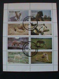 EYNHALLOW SCOTLAND STAMP:1977 WILD ANIMALS CTO- MNH - MINI SHEET #2