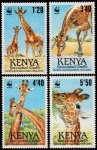 ✔ KENYA 1989 - FAUNA WILDLIFE WWF TOP SET - MI. 481/484 ** MNH [AFKN481]