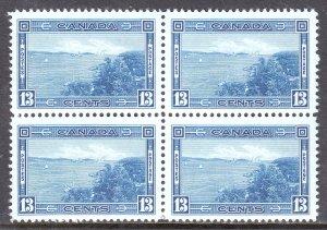 Canada - Scott #242 - Block/4 - MH/MNH - UL MH w/lt. thin, others MNH - SCV $66