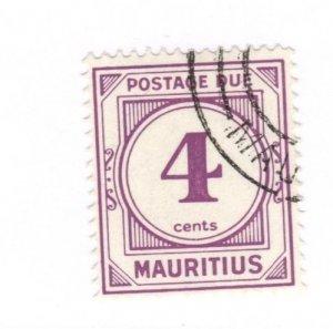 Mauritius #J9 Used - Stamp CAT VALUE $8.50