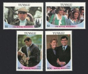 Tuvalu Royal Wedding Prince Andrew 4v 1986 MNH SG#397-400