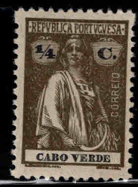 Cabo or Cape Verde Scott 173 MH* Ceres stamp