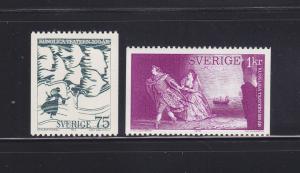 Sweden 992-993 Set MNH Art