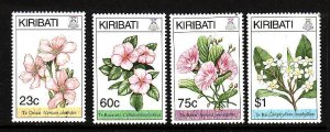 Kiribati-Sc#652-5-Unused NH set-Flowers-please note that there is a  spot of gum