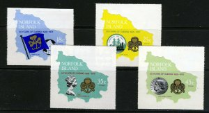 NORFOLK ISLAND 1978 50th. Anniversary of Girl Guides Set SG 203 to SG 206 MNH