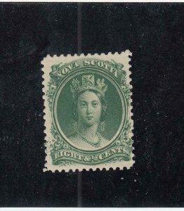 NOVA SCOTIA (MK4561)  # 11 VF-MNH  8 1/2cts  VICTORIA //GREEN // 1860-63 CAT $40
