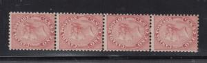 Canada #14 Mint Strip Of Four **With Certificate**