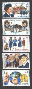 Isle Of Man. 1985. 272-76. Scouts. MNH.