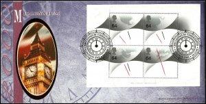 GB Benham FDC BLCS172 Millennium Timekeeper minisheet London SW 1999