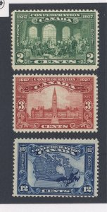 3x Canada Stamps  #142-2c MH  #143-3c  #145-12c Guide Value = $36.00