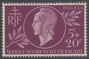 French West Africa B1 MVLH CV $6.50