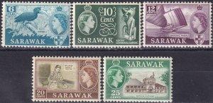 Sarawak #200, 202-3, 205-6 MNH CV $15.30 (Z3945)
