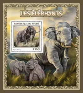 NIGER 2016 SHEET ELEPHANTS WILDLIFE nig16505b