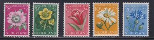 Netherlands # B238-242, Flowers, Hinged, 1/3 Cat.