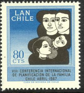 CHILE 1967 FAMILY PLANNING Airmail Scott No C272 MNH
