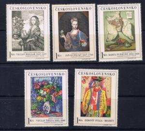Czechoslovakia 1435-39 Never Hinged 1966 set without labels;