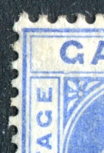 Gambia 1904 KEVII. 2 1/2d bright blue. MC CA. Mint Hinged. DENTED FRAME. SG60b.