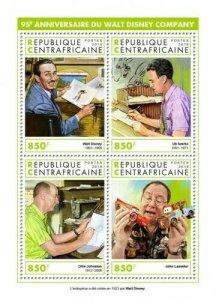 HERRICKSTAMP NEW ISSUES CENTRAL AFRICA Anniv. Walt Disney Company Sheetlet