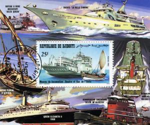 SHIPS Souvenir Sheet Perforated Fine Used