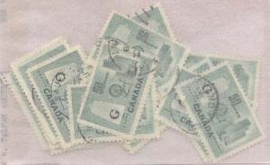 Canada - 1953 50c Textile Ovpt. G X 25 used #O38