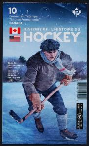 Canada 3041a Booklet MNH History of Hockey, Sports
