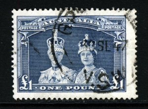 AUSTRALIA King George VI 1938 £1 Slate-Blue Thick Smooth Paper SG 178 VFU