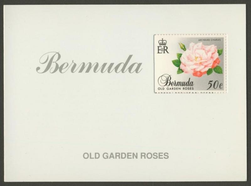 Bermuda 575a Booklet MNH Flowers, Old Garden Roses