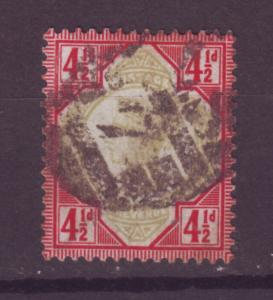 J13994 JLstamps 1887-92 great britain used #117 queen $42.50 scv