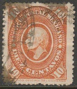 MEXICO 171, 10¢ HIDALGO MEDALLION, USED. VF. (66)