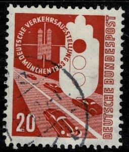GERMANY 1953 TRANSPORT EXHIBITION MUNICH USED (VFU) SG1095 Wmk.263 P.14 SUPERB