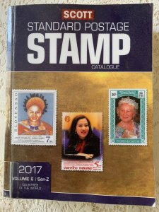 Scott 2017 Standard Postage Stamp Catalogue Vol 6: San - Z Countries ExLibrary