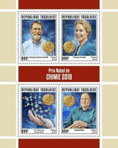 Z08 IMPERF TG190149a TOGO 2019 Nobel Prize in Chemistry MNH ** Postfrisch