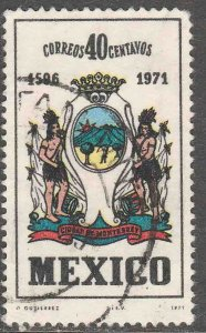 MEXICO 1037, 40¢ 475th Anniversary of the founding of Monterrey. USED, VF (807)