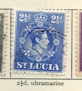 St Lucia 1938-48 GVI Early Issue Fine Used 2.5d. NW-154975